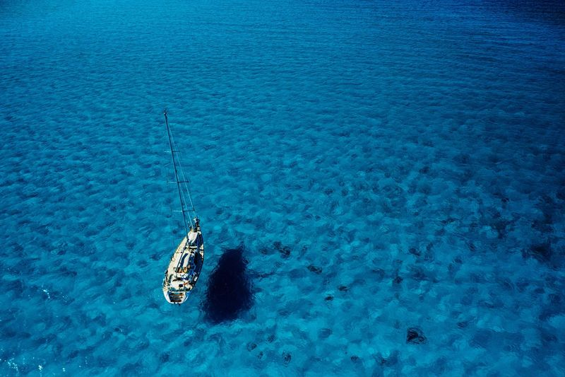 Seafaring Photographyisthemuse Sailboat Water High Angle View Nature Blue Day Beauty In Nature Sea No People Aerial View Nautical Vessel Tranquility Transportation Travel Outdoors