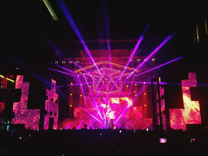 Music Stage - Performance Space Stage Light Music Festival Concert Illuminated Performance Large Group Of People Popular Music Concert Crowd Nightlife Excitement Audience Night People Performing Arts Event Fame Singing