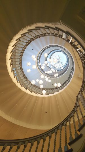 Staircase Indoors  Spiral Staircase Architecture Concentric Stairs Lights Design Heal's Cecil Brewer Brewers Spiral Staircase Brewers Staircase