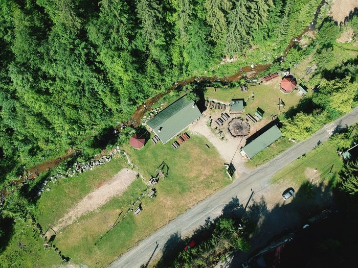 Dronephotography Forest Photography Drone Photography Drone  Forest Romania Transylvania Camp Chalet Camping Hovel Creekside Creek Village Beauty In Nature Nature Plant Day Growth No People Nature Green Color High Angle View Full Frame Water Beauty In Nature Outdoors Backgrounds Land Tree