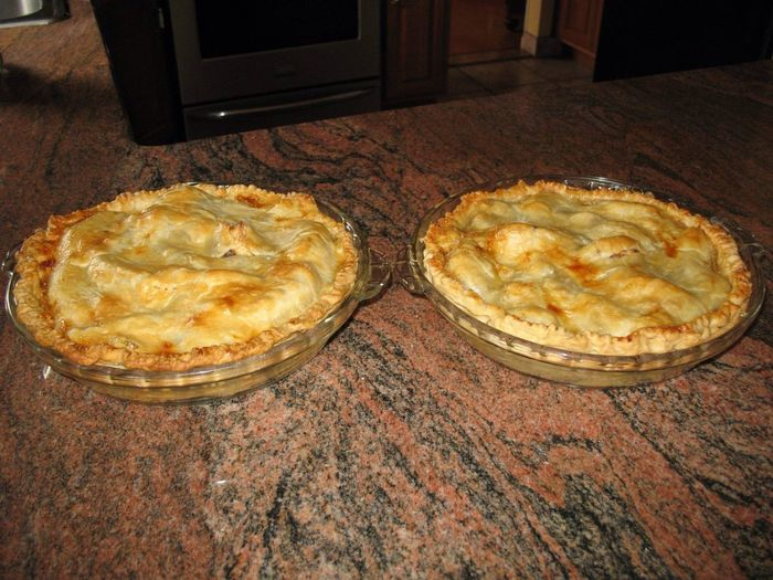 For dessert, fresh baked Peach Pies, made from scratch Nomnombomb Yummy♡ MyExoticFriends ExpensiveWinos