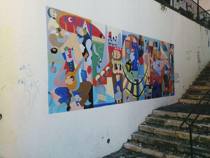Mural Art Lisboa Lisbon No People