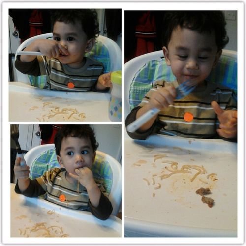 Hes Enjoying His Pasta ! Eating Like A Big Boy :)