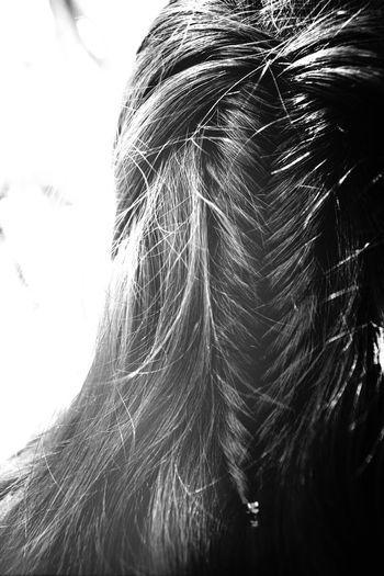 Did mum's Hair the other day. A Fishtail Braid! ♡ Blackandwhite Eye4photography
