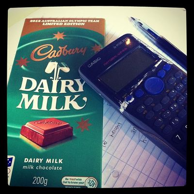 Comfort food after weeks of seeing HSC past papers :( HSC Instamaths Instastudy ICAN myloveformaths chocolate cadbury
