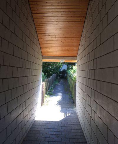 Pedestrian Walkway The Way Forward Vanishing Point No People Underpass
