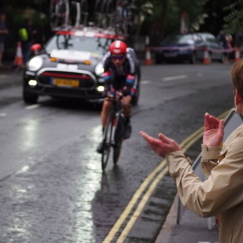 Bristol time Trial - stage 7a Tour of Britain Cycling Spectator Time Trialling Bristol Outdoors Tob2016 Tour Of Britain Time Trial Blurred Motion Sport Mini