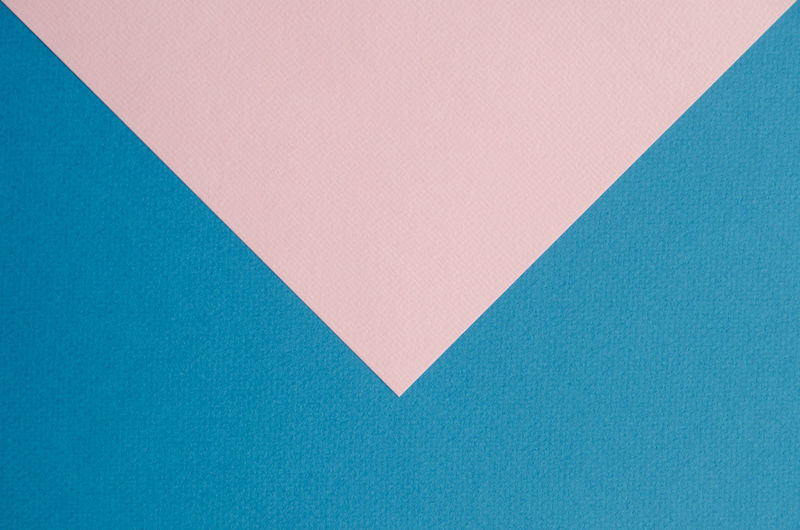 Close-Up Of Blue And Pink Paper