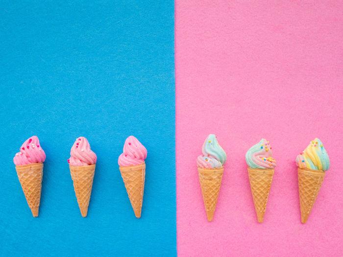 Icecream🍦 Ice Sweet♡ Cone Chocolate♡ Vanilla Ice Cream  Vanilla Pink Set Sofe Milk Wafer Summer Brown Cool Creame Delicious Dessert Topping Food Blue Refreshment Mix Coppy Sugar