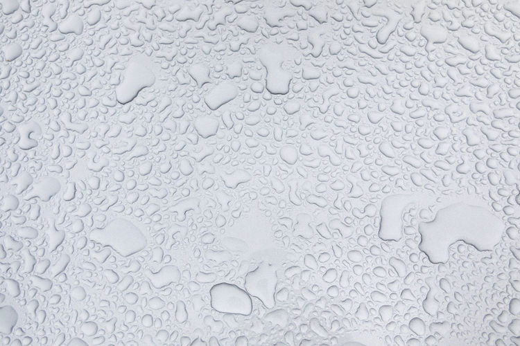 Full Frame Shot Of Water Drops On Car