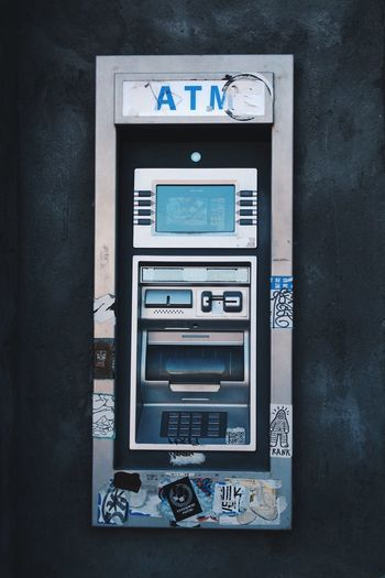 Atm machine at bank