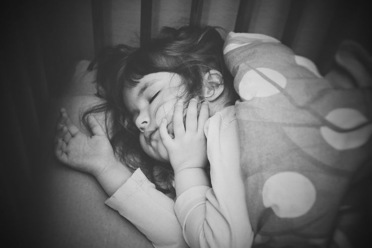 Portraits Kids Sleeping Sweet Calmness Tranquility Black And White Children Childhood Resting Nap Human Hand Portrait Beauty Beautiful People Females Human Face Preschooler Lying Napping At Home Bedtime