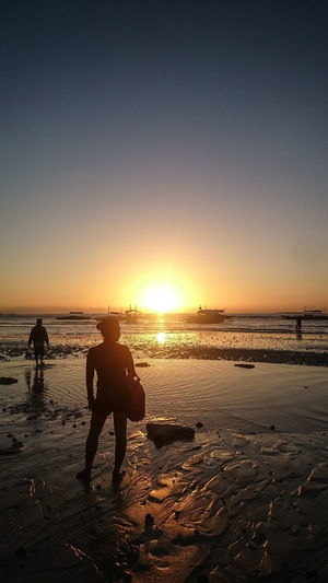 Sea Beach Outdoors Silhouette Nature Travel Destinations Beauty In Nature Scenics Sunset Philippines ❤️