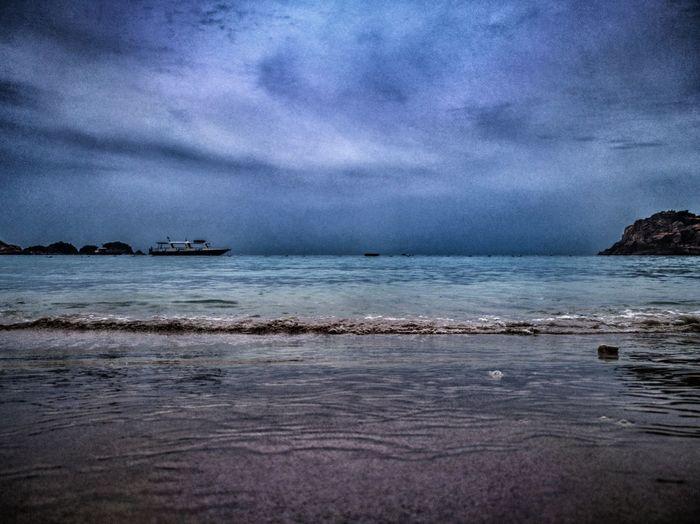 Dark Sea Beach Cloud - Sky Nature Water No People Outdoors Sand Sky Wave Pulau Redang Redang Island