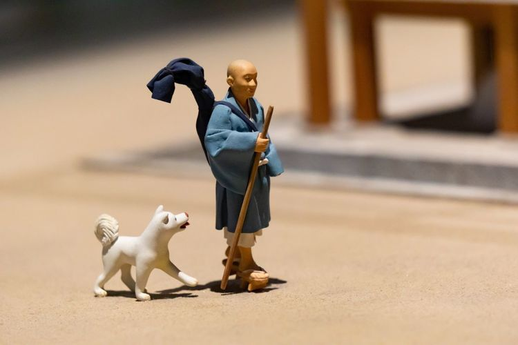Dog is good friend. Art And Craft Creativity Japan Japanese Culture OSAKA Travel Art Dog Education Exhibition Figurine  Focus On Foreground History Human Representation Model Museum One Animal Pets Representation Selective Focus Small The Past Walking