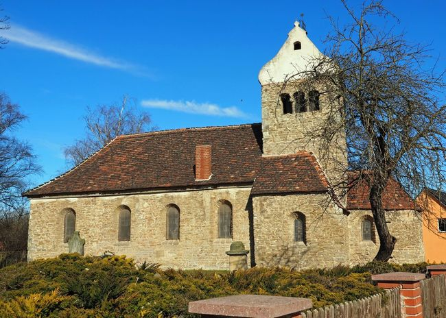 Very old church in Gemany, Anhalt; (Romanik, Mittelalter) 1000 Years Old GERMANY🇩🇪DEUTSCHERLAND@ Mittelalter Alte Kirche Architecture Bare Tree Building Exterior Built Structure Day History Nature No People Old Church Outdoors Romanic Sky Tree