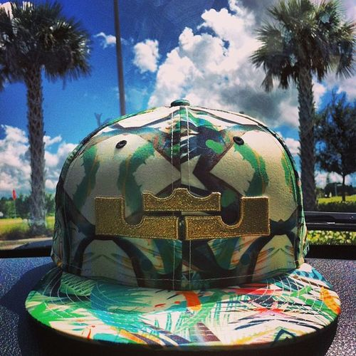Champ hat ? Lebronfloral Championhat Palmtrees Backround famous females tflers igers girls