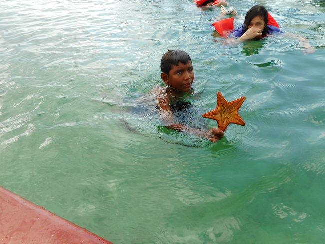 Hoduras Kids Roatan Bay Islands Ocean Sea Starfish  Water