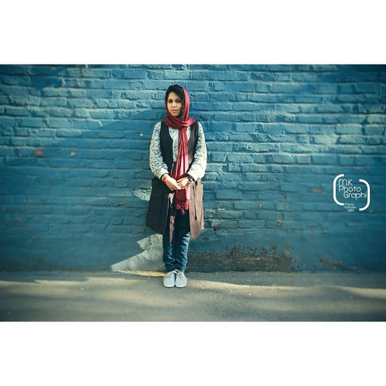 Modeling My Friend Portrait Follow Me On Instagram: @mk_photographi Wall Tehran Streetphotography Colorful 2015  1394