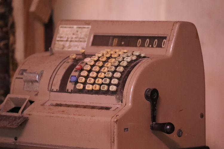 Accounting Antique Cashier  Cashier Machine Indoors  Machinery No People Technology