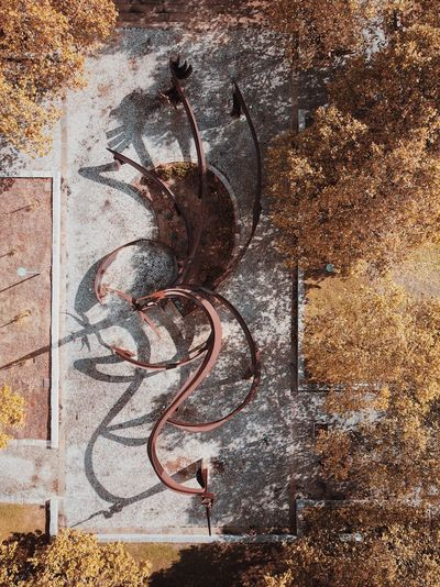 🍂 Abstract Aerial View EyeEm Best Shots No People Day Sunlight Nature Creativity Pattern Outdoors Metal Wall - Building Feature High Angle View Brown Art And Craft Textured  Close-up Shadow