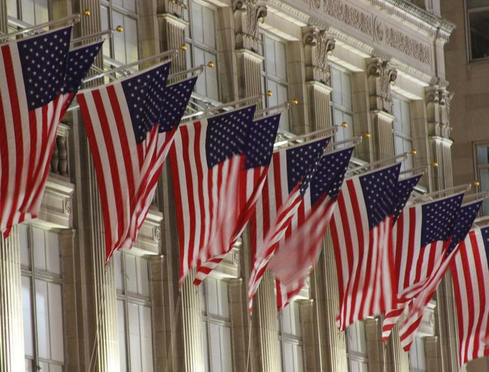 New York United States America American Flag Patriotic Red White And Blue