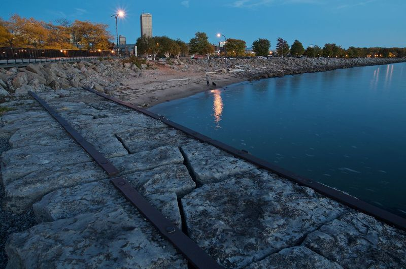 Buffalo, NY Basin Marina. City Cityscape Long Exposure No People Outdoors Reflection Sky Tree Water