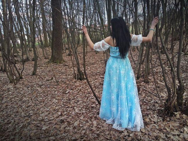 -BLUE MOONshooting- /Photographer: April Maljicki Photography/ /Dress: Lunatik Shop/ /Model: Merima Karahodžić/ /Makeup: Oriflame/ #Blue #Dress #EyeEmNewHere #Nature  #beautiful #dance #fashion #model #outfit #OOTD #photography #portrait #sky #witch Beautiful Woman Beauty Day Forest Full Length Long Hair Nature Outdoors People Real People Standing Young Women