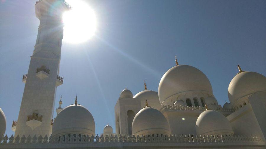 Masjid Beautiful Praying Jummah Mosque Architecture Morning Abudhabi UAE