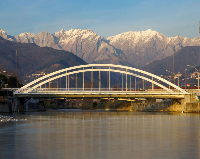 Bridge under apuan alps in marina di massa