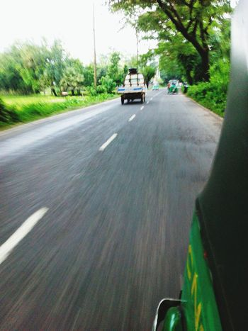 Click with Mobile Phone Camera in Road to Runningaway