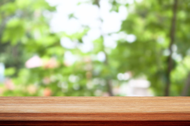 Wood against blurred background