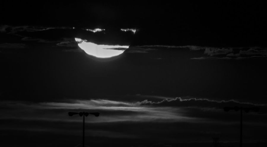 Tonights sunset in black and white...and also looks like a ninja...turtle 😁 Blackandwhite Sunset Clouds And Sky Nature Atmosphere Do You See What I See? Black Sun EyeEm Nature Lover