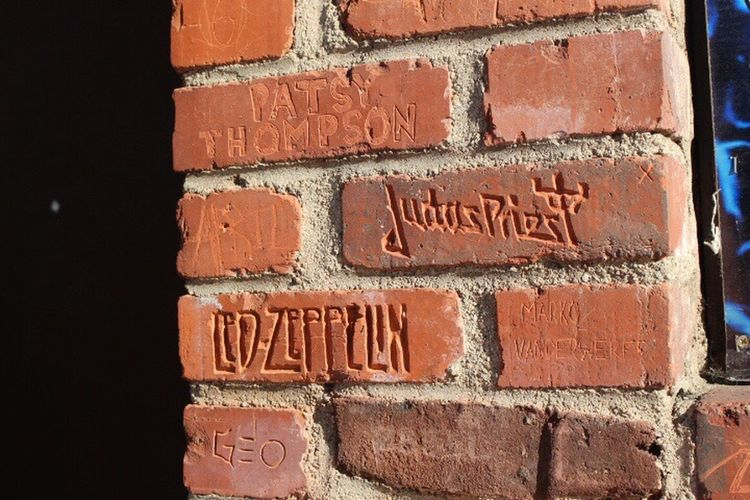 The writings on the wall🎶 Brick Wall Close-up Text Built Structure Famous