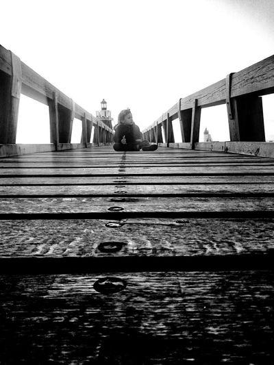 Beach Capbreton Capbreton Children Bridge Phare Pharaoh Black And White Photography Blackandwhite Photography Black & White Blackandwhite