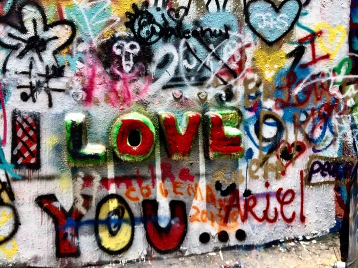 Graffiti wall... Graffiti Multi Colored Wall - Building Feature Street Art Text Spray Paint Creativity Art And Craft Full Frame Communication Backgrounds Outdoors Day Close-up No People Architecture Building Exterior Austin Texas Love ♥