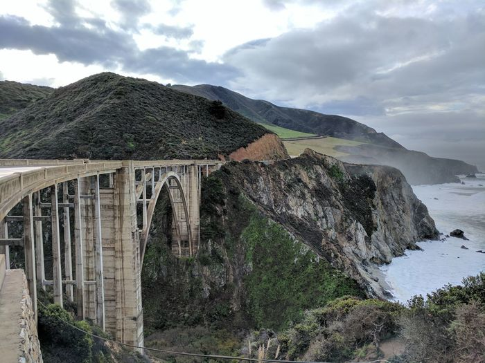 Beauty In Nature Bixby Creek Bridge Bridge Cloud - Sky Landscape Mountain Mountain Range Nature Outdoors Scenics Sea And Sky Sky
