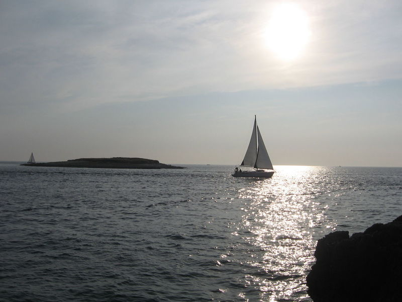 Beauty In Nature Day Horizon Over Water Idyllic Istria Mast Nature Nautical Vessel No People Outdoors Sailboat Sailing Sailing Ship Scenics Sea Silhouette Sky Sun Sunbeam Sunlight Sunset Tranquil Scene Tranquility Water Yacht Yachting