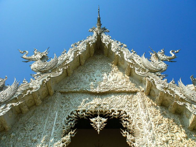 Religious Architecture Beautiful Temple White Temple White Temple Thailand WatRongKhunWhiteTemple Wat Rongkhun Wat Rong Khun Watrongkhun Chiang Rai Chiang Rai, Thailand Chiang Rai | Thailand Temple Architecture White Sculpture Bright Sacred Geometry Curves And Lines Sculpture Detail Intricacy Intricate Details