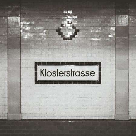 Berlin Subway Station Signage U2