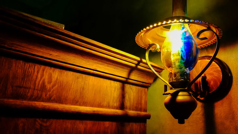 Rustic Art Bieszczady Close-up Electric Lamp Electric Light Electricity  Evening Focus On Foreground Glass - Material Glowing Hanging Illuminated Indoors  Lamp Light Light - Natural Phenomenon Light Bulb Lighting Equipment Low Angle View No People Oil Lamp Steampunk Wall - Building Feature Wood - Material