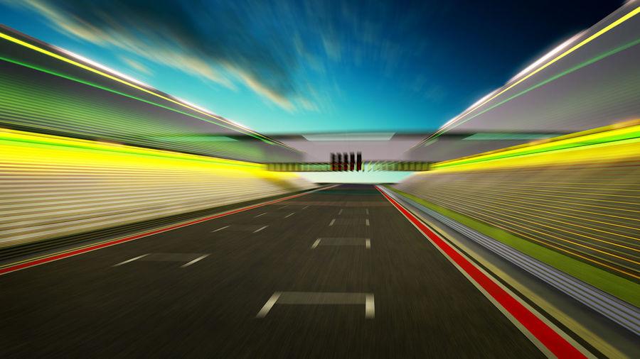 Motor racing track against sky