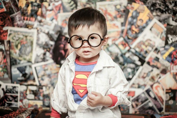 SUPERBOY! Superhero Portrait Canon 50mm Photography Strobist Studio Children Photography Canada Windsor
