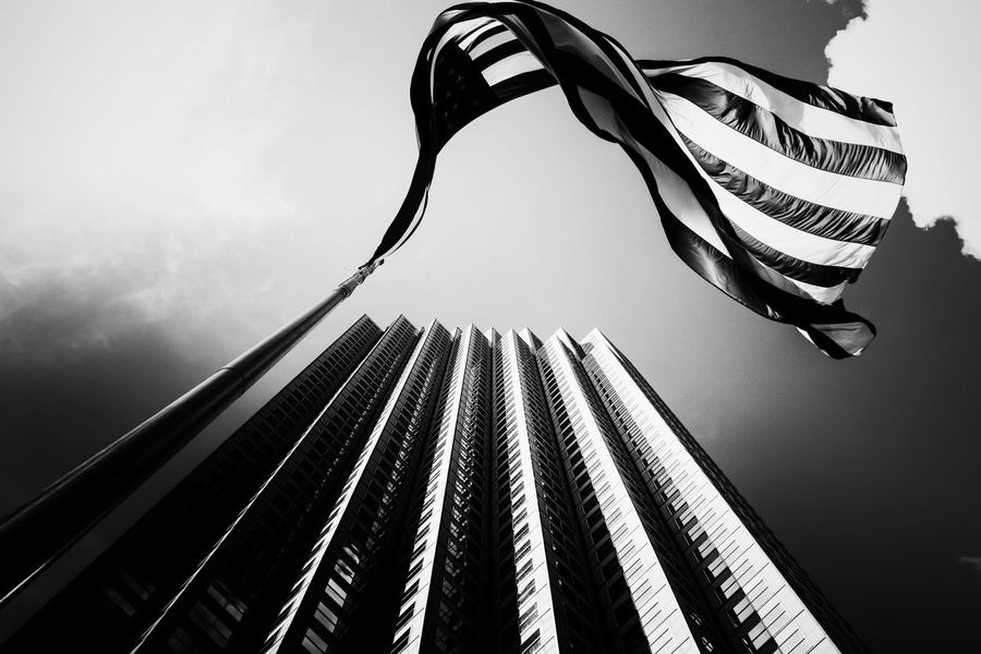 Bw_collection Bw Bnw Black And White Photography Blackandwhite Flag Flag Pole Building Miami Miami, FL Downtown Monochrome Photography The Architect - 2017 EyeEm Awards Black And White Friday The Architect - 2018 EyeEm Awards