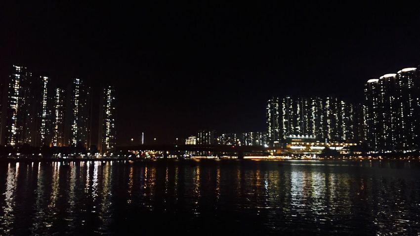 Captured By IPhone 7 Plus Seaside Tsuen Wan Tsuen Wan Riviera Park Lights And Shadows Night Photography