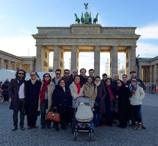 Family Matters At The Branderburg Gate In Berlin