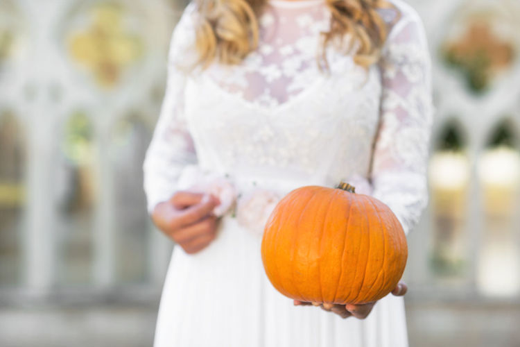 Bride holding