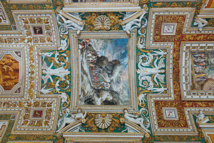 Rome Vatican Architecture Art And Craft Belief Building Built Structure Ceiling Craft Creativity Design Fresco History Human Representation Indoors  Italy Mural No People Ornate Place Of Worship Religion Representation Spirituality The Past Travel Destinations