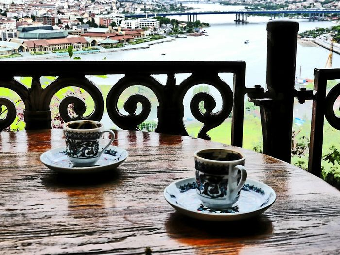 Table Food And Drink Coffee Turkish Coffee look from Pier Loti Outdoors Cityscape Bosphorus Scenics Plate Water Teapot Drink Close-up Traditional Culture Cultures Culture And Tradition 1001 Night Scenery Landscape Popular Relax Türkkahvesi Let's Go. Together. 100 Days Of Summer Done That. An Eye For Travel Colour Your Horizn Stories From The City Adventures In The City The Traveler - 2018 EyeEm Awards