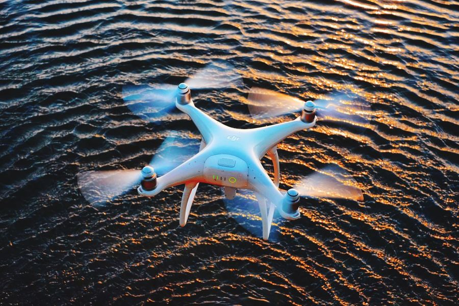 Water Flying Drone Hovering Above Flying Over Moving Objects Water_collection Water Surface Waterwaves Waves Quadcopter Flying Above Hovering Inflight Product Photography